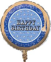 Blue Bandana Foil Balloon
