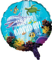 Dolphin Party Foil Balloon