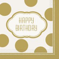 Golden Birthday Lunch Napkins (16)