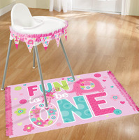 Fun at One Girl Highchair Decorating Kit