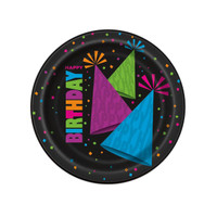 Glow in the Dark Party Dessert Plates