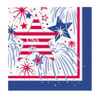 Patriotic Party Beverage Napkins (16)