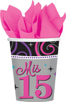 Mis Quince Anos 9oz. Cups (8)