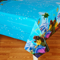 Dolphin Party Plastic Tablecover