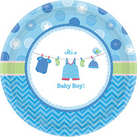 Baby Shower Boy Shower With Love Dinner Plates (8)