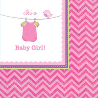 Baby Shower Girl Shower With Love Beverage Napkins (16)