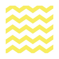 Chevron and Dots Yellow Beverage Napkins