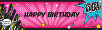 Superhero Girl Birthday Banner