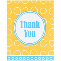 Blue and Yellow Thank You Notes (8)