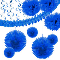 Royal Blue Paper Decoration Kit
