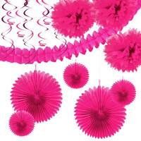 Hot Pink Paper Decoration Kit