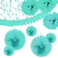 Seafoam Paper Decoration Kit