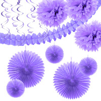 French Violet Paper Decoration Kit