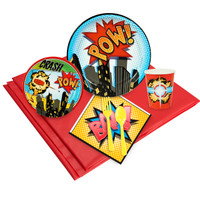 Superhero Comics Party Pack