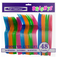 Neon Cutlery Assorted (48)