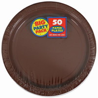 Chocolate Brown Big Party Pack Dinner Plates