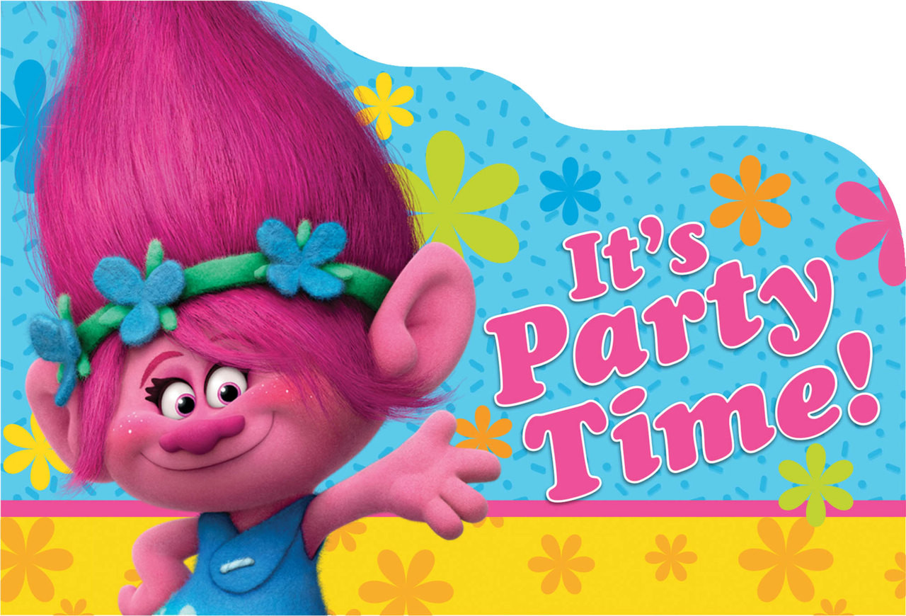 Trolls Invitations - ThePartyWorks