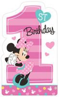 Disney Minnie Mouse 1st Birthday Invites (8)