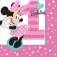 Disney Minnie Mouse 1st Birthday Beverage Napkins (16)