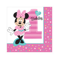 Disney Minnie Mouse 1st Birthday Lunch Napkins (16)