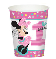 Disney Minnie Mouse 1st Birthday 9oz Paper Cups (8)