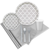 Quatrefoil Medium Gray Event Pack