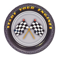 Racecar Racing Party Dessert Plates (8)