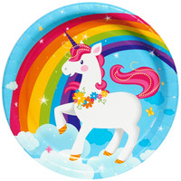Fairytale Unicorn Party Dinner Plates (8)