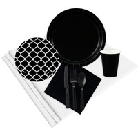Quatrefoil Black Event Pack