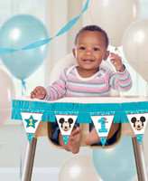 Disney Mickey Mouse 1st Birthday High Chair Kit