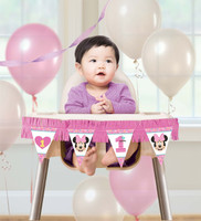 Disney Minnie Mouse 1st Birthday High Chair Kit