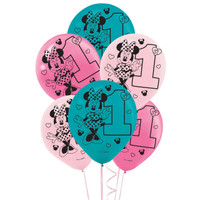 Disney Minnie Mouse 1st Birthday Latex Balloon