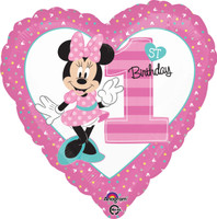 Disney Minnie Mouse 1st Birthday Foil Balloon (1)