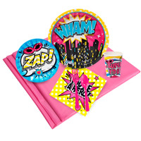 Superhero Girl Party Pack for 24