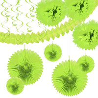 Lime Green Festive Decoration Kit