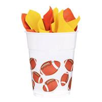Football Fan 14 oz. Plastic Cups