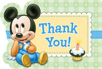 Disney Mickey 1st Thank-You Notes