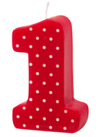 #1 Red Polka Dot Candle