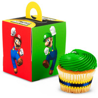 Super Mario Bros. Cupcake Boxes (Pack of 4)