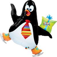 Penguin Birthday Jumbo Foil Balloon