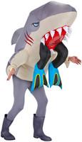 Big Animal Head Costume-Shark with Legs Adult