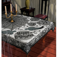 Midnight Lace Fabric Tablecover