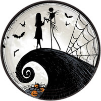 Nightmare Before Christmas 9 Round Lunch Plate (8)