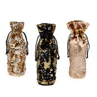 Metallic Reversible Wine Bag Set (3)