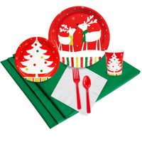 Reindeer Christmas Party 24 Guest Party Pack