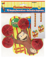 Curious George Hanging Swirls