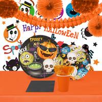 Halloween Emoji 16 Guest Tableware & Room Decor Kit
