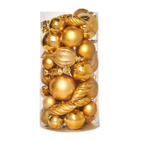 Gold Assorted Ornament Set (48)