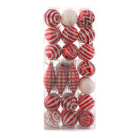 Red & White Assorted Ornament Set (42)