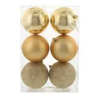 Gold 100mm Ball Ornament Set (6)